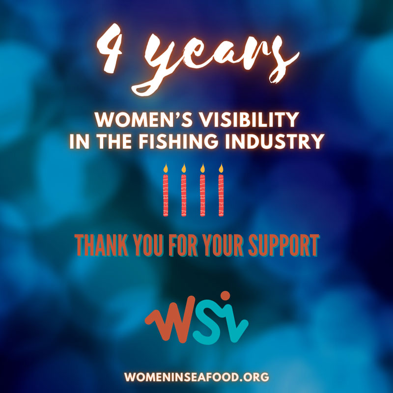 4 years of women's visibility in the fishing industry